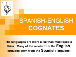 Spanish-English Cognates