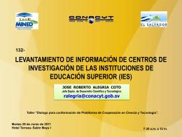Diapositiva 1 - Consejo Nacional de Ciencia y Tecnología
