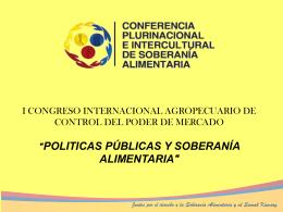 POLÍTICAS PUBLICAS Y SOBERANÍA ALIMENTARIA
