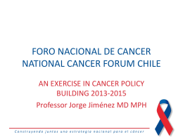NFC Exercise in cancer policy building Arica 08 10 14