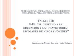 Taller III - amsafelascolonias.com.ar
