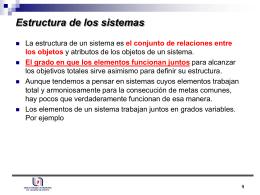 Estructura de los sistemas