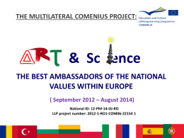 Sc ence - Art and Science – The Best Ambassadors of the National