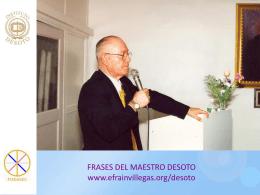 FRASES SOBRE EL AMOR - MAESTRO DESOTO