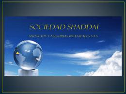 unica presentacion SHADDAI