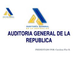 auditoria general de la república (2 evaluación)