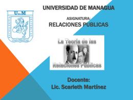 UNIVERSIDAD DE MANAGUA primera clase Relaciones Publicas