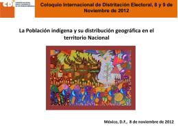 La Población indígena y su distribución
