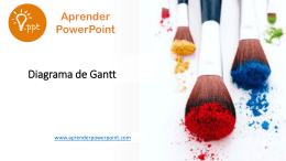Diagrama de Gantt - Aprender PowerPoint