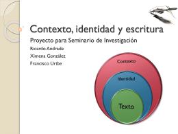 Contexto, identidad y escritura