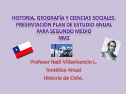 Historia de Chile. - Colegio Dario Salas