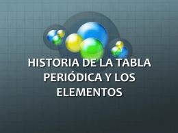 Historia de la Tabla Periódica - Departamento de Química Física