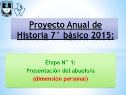 Proyecto Anual de Historia 7° básico 2015