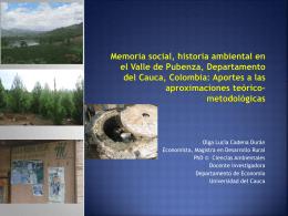 Memoria social, Historia Ambiental en el Valle de