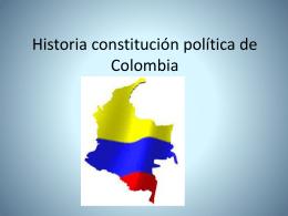 Historia constitución política de Colombia