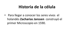 Historia de la célula