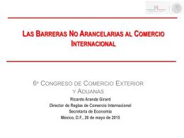 Barreras No Arancelarias al Comercio Internacional