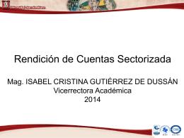 Rendición de Cuentas 2013 - Universidad Surcolombiana