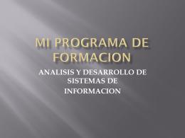 MI PROGRAMA DE FORMACION