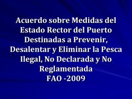 Acuerdo sobre Medidas del Estado Rector del Puerto Destinadas a