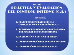 control interno - Dirección Ejecutiva de Ingresos