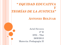 EQUIDAD EDUCATIVA - BOLIVAR