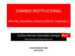 SESION 6 Cambio Institucional y Análisis de