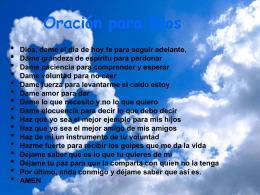 Oración-para