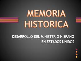 MEMORIA HISTORICA 1511 al Presente
