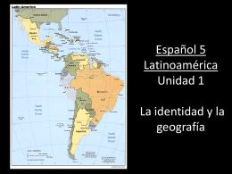 Español 5 Latinoamérica capítulo 1 La unidad del mundo