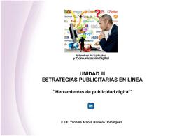 UNIDAD 1- PUBLICIDAD DIGITAL El Mundo de la Publicidad y la