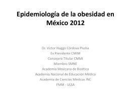 Actualización de la epidemiología de la obesidad