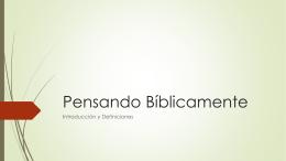 Cosmovisión Bíblica