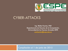 Cyber-attacks - Departamento de Seguridad y Defensa