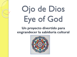 Ojo de Dios Eye of God
