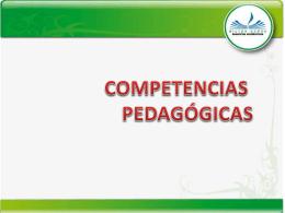 Descargar Competencias Pedagógicas