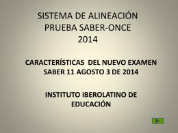 SISTEMA DE ALINEACIÓN PRUEBA SABER