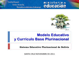TRANSFORMACIÓN CURRICULAR Enfoque, avances y perspectivas