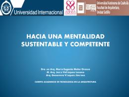 hacia una mentalidad sustentable y competente