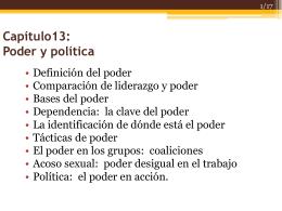 13 Poder y política