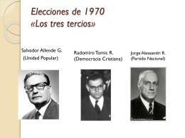 La Experiencia Socialista «La Unidad Popular al Poder»