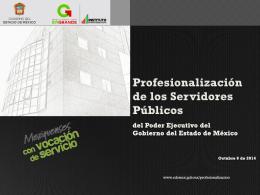 Profesionalización de los Servidores Públicos del Poder Ejecutivo