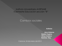 República bolivariana de Venezuela Ministerio del Poder Popular