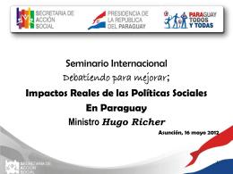 Paraguay ponencia SAS - Ministro Hugo Richer