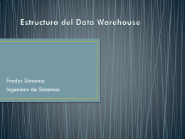 Estructura del Data Warehouse