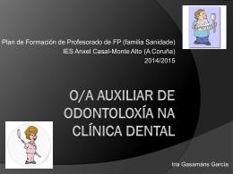 O/A auxiliar de odontoloxía na clínica dental