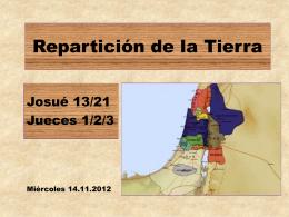 5. repartición de la tierra - Iglesia Cristiana La Serena