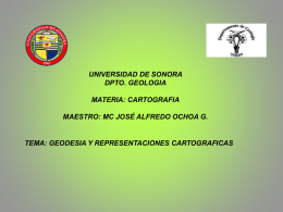 CARTOGRAFIA - Universidad de Sonora