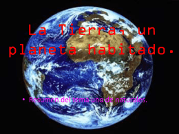 La Tierra, un planeta habitado.