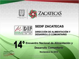UNIPRODES – SEDIF Zacatecas